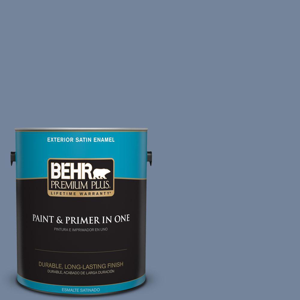 BEHR Premium Plus 1-gal. #580F-5 Mysteria Satin Enamel Exterior Paint