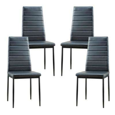 Stein Gray Vegan Leather Dining Chair (Set of 4)