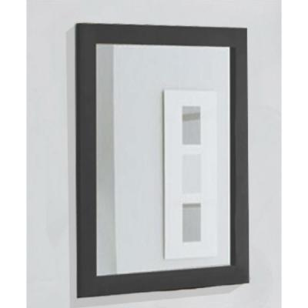 16 in. W x 26 in. H Framed Rectangular Bathroom Vanity Mirror in Espresso