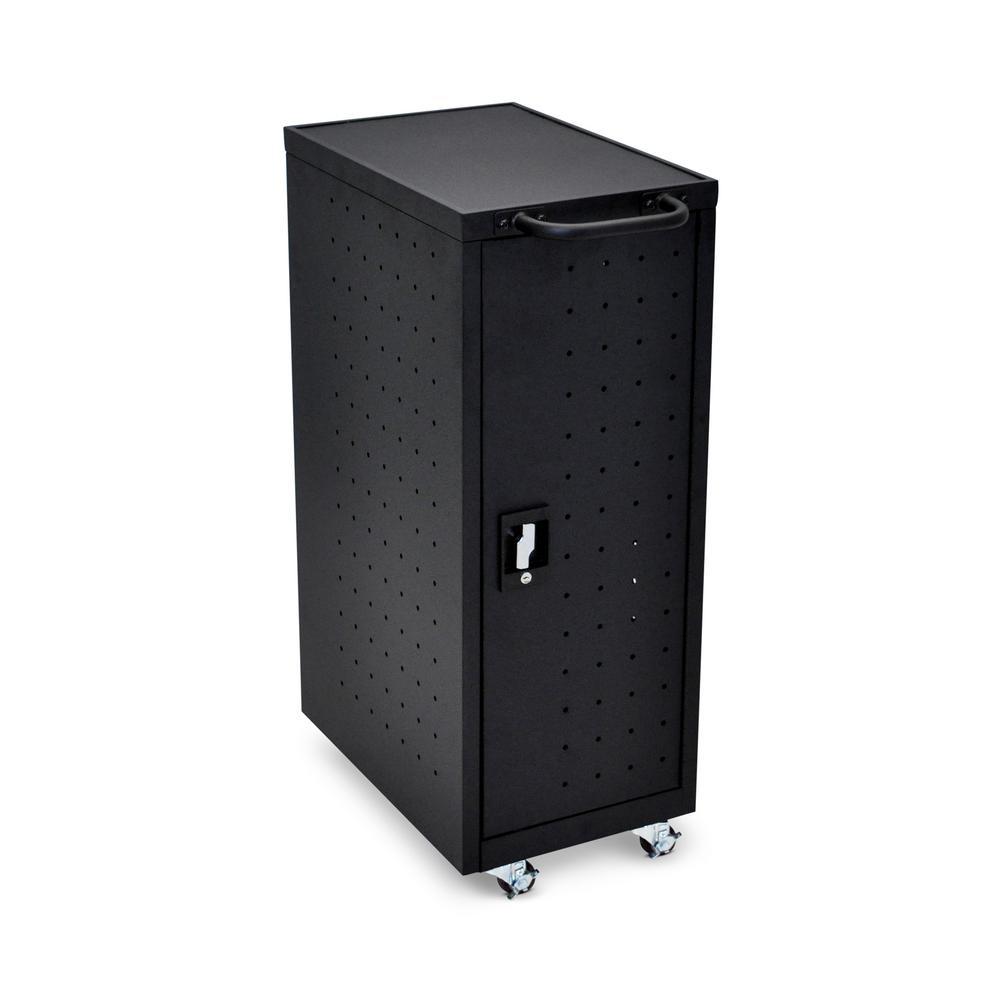 All Steel Mobile Charging locker for 12 Laptops/Chromebooks in Black