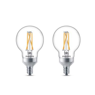 25-Watt Equivalent G16.5 Dimmable LED Light Bulb with Warm Glow Dimming Effect Candelabra Base Soft White (8-Pack)