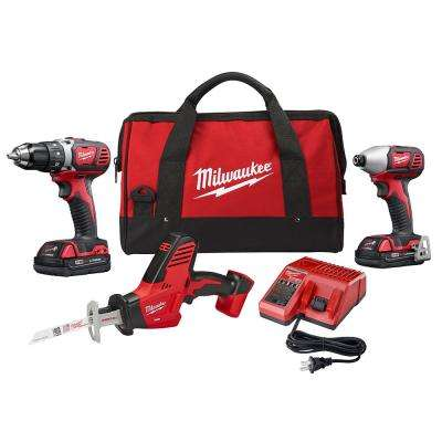 M18 18-Volt Lithium-Ion Cordless Drill Driver/Impact Driver and HACKZALL Combo Kit (3-Tool) with Two 1.5 Ah Batteries