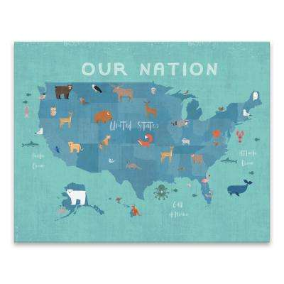 """""""Our Nation"""" by Lot26 Studio Printed Canvas Wall Art"""