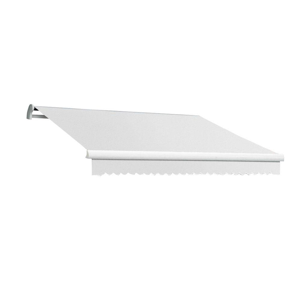 AWNTECH 14 ft. Maui-LX Right Motor Retractable Acrylic Awning with Remote (120 in. Projection) in Off-White