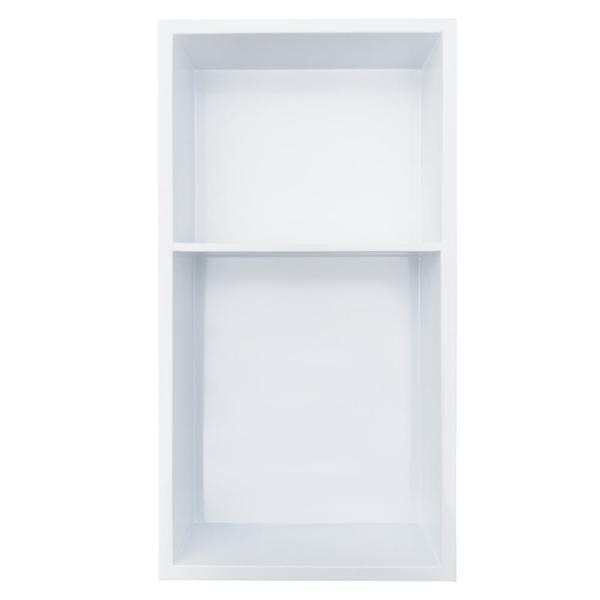 Showroom Series 12 in. x 24 in. Niche with Shelf in White