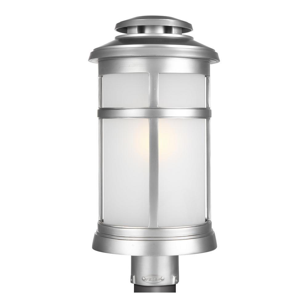 Newport 1-Light Outdoor Painted Brushed Steel Post Light