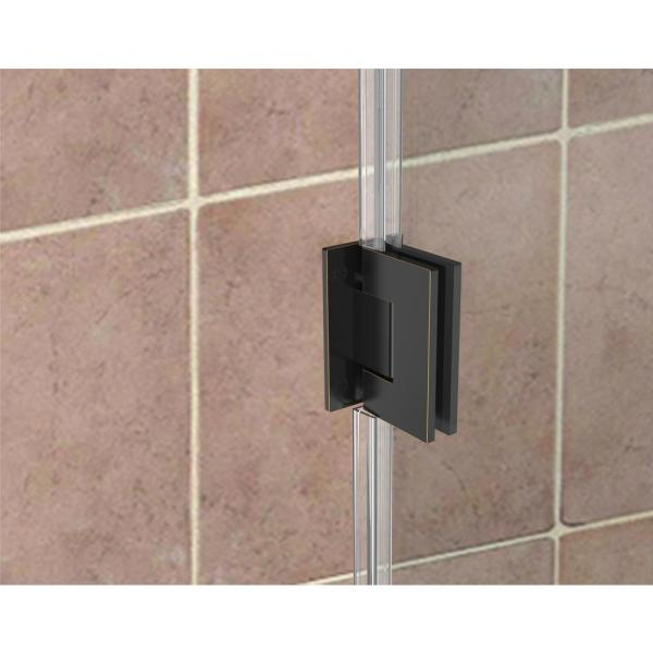 Aston Belmore Gs 69 25 In To 70 25 In X 72 In Frameless Hinged Shower Door With Glass Shelves In Oil Rubbed Bronze Sdr960ez Orb 7032 10 The Home Depot
