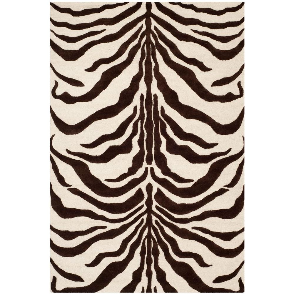 Cambridge Ivory/Brown 5 ft. x 8 ft. Area Rug