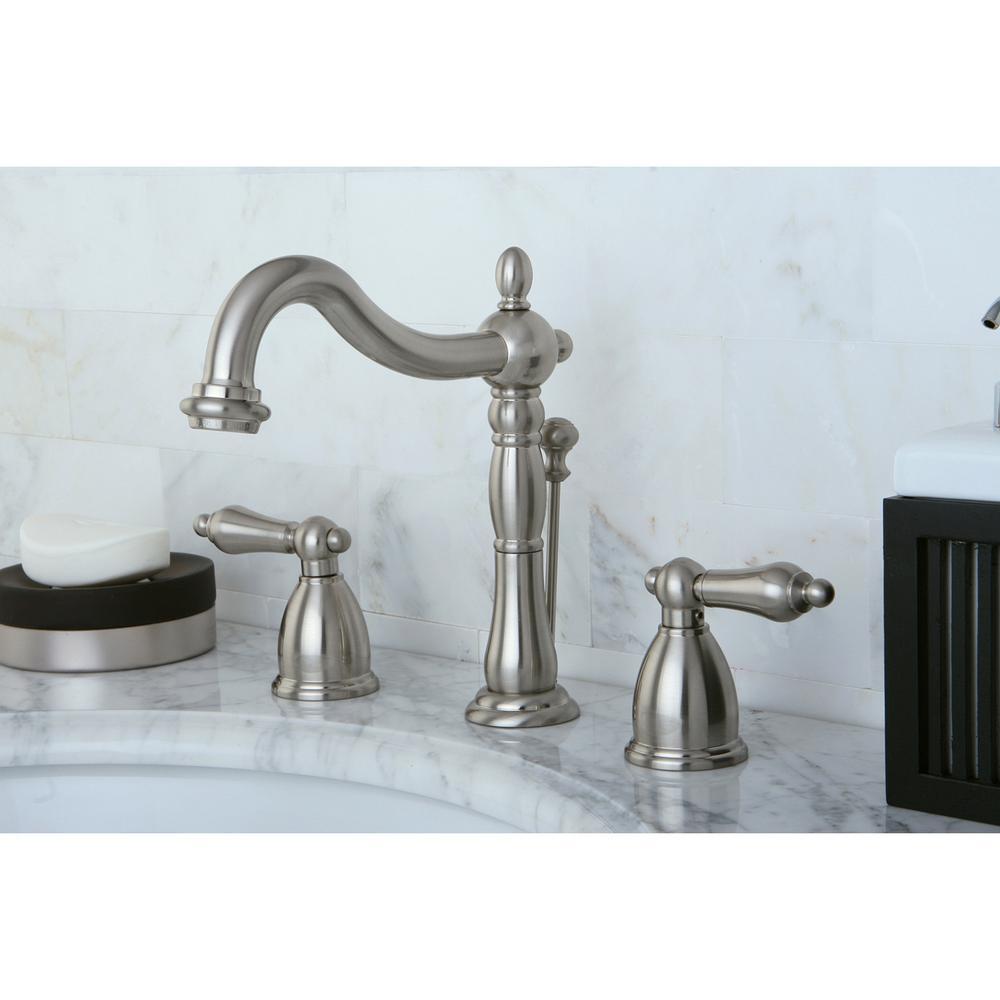 Victorian 8 in. Widespread 2-Handle Bathroom Faucet in Brushed Nickel