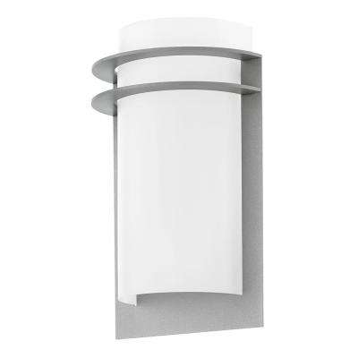 Malgera 1-Light Silver Outdoor Integrated LED Wall Sconce