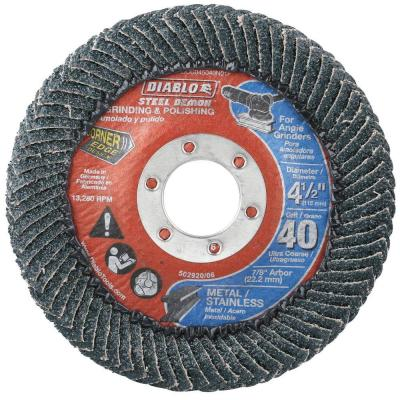 4-1/2 in. 40-Grit Steel Demon Corner-Edge Grinding and Polishing Flap Disc with Type 29 Conical Design