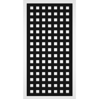 Classic 2 ft. x 4 ft. Black Vinyl Decorative Screen Panel (Pack of 2)