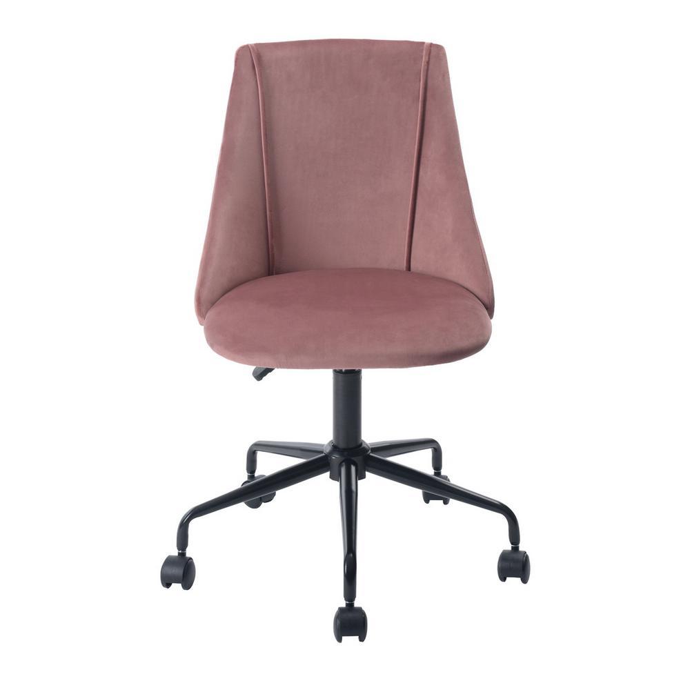 FurnitureR Cian Rose Velvet Swivel Office Desk Chair Deals