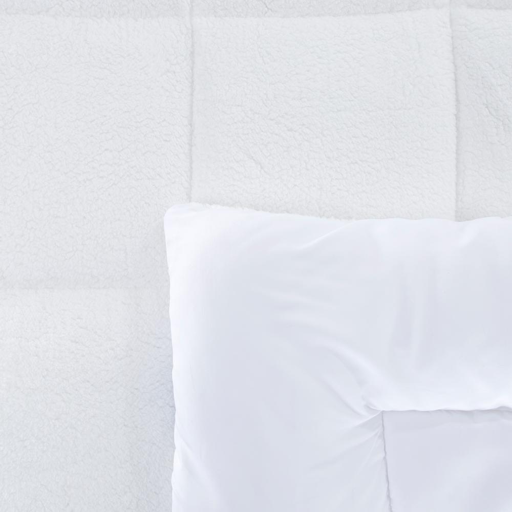 Light Warmth White Sherpa Alternative Comforter