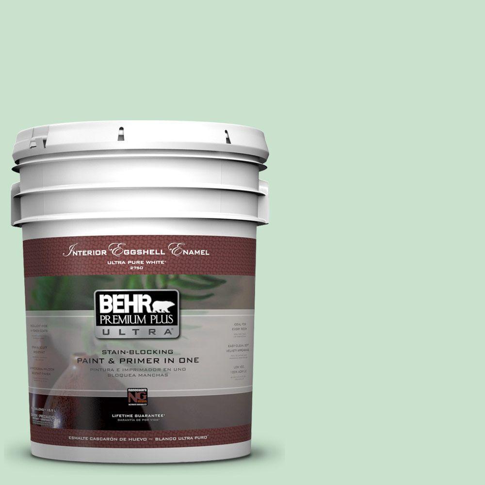 BEHR Premium Plus Ultra 5-gal. #M410-2 Wishful Green Eggshell Enamel Interior Paint