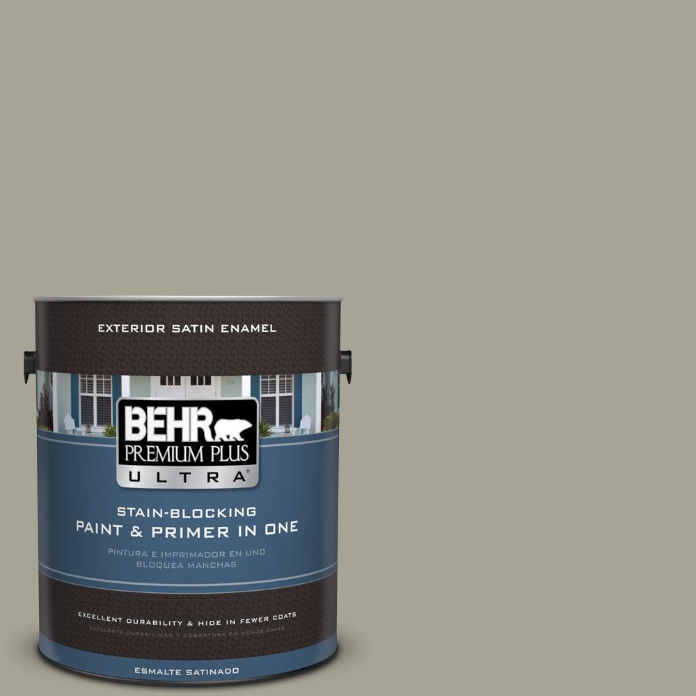 BEHR Premium Plus Ultra Home Decorators Collection 1-gal. #HDC-NT-01 Woodland Sage Satin Enamel Exterior Paint