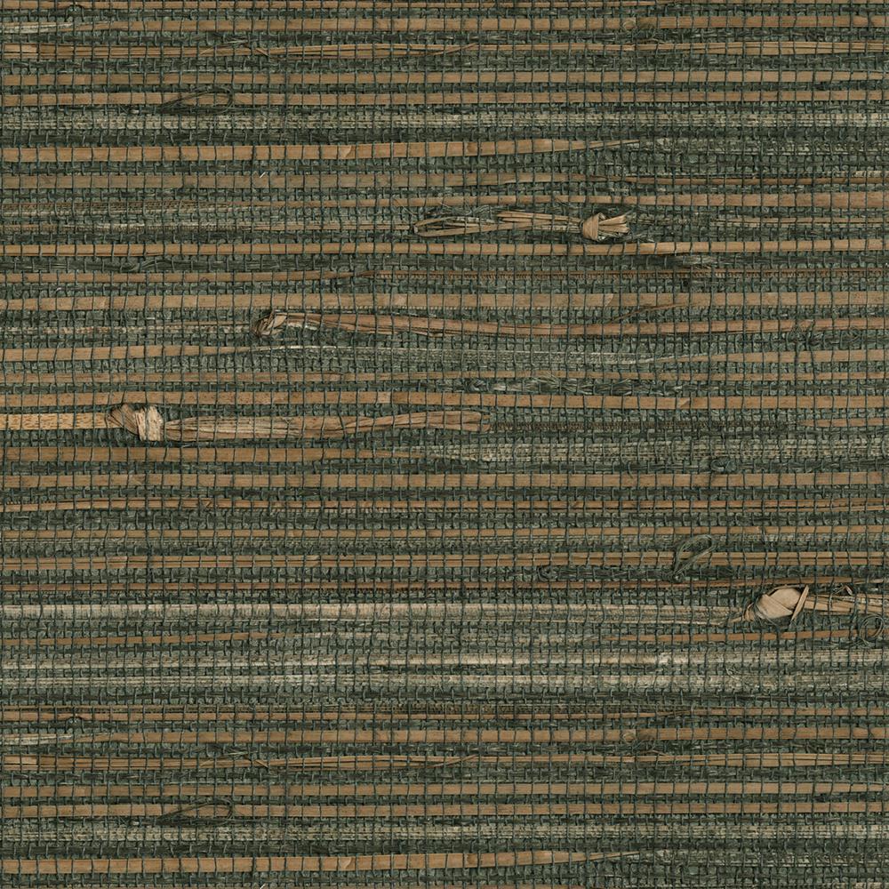 Reju Charcoal Grasscloth Wallpaper Sample