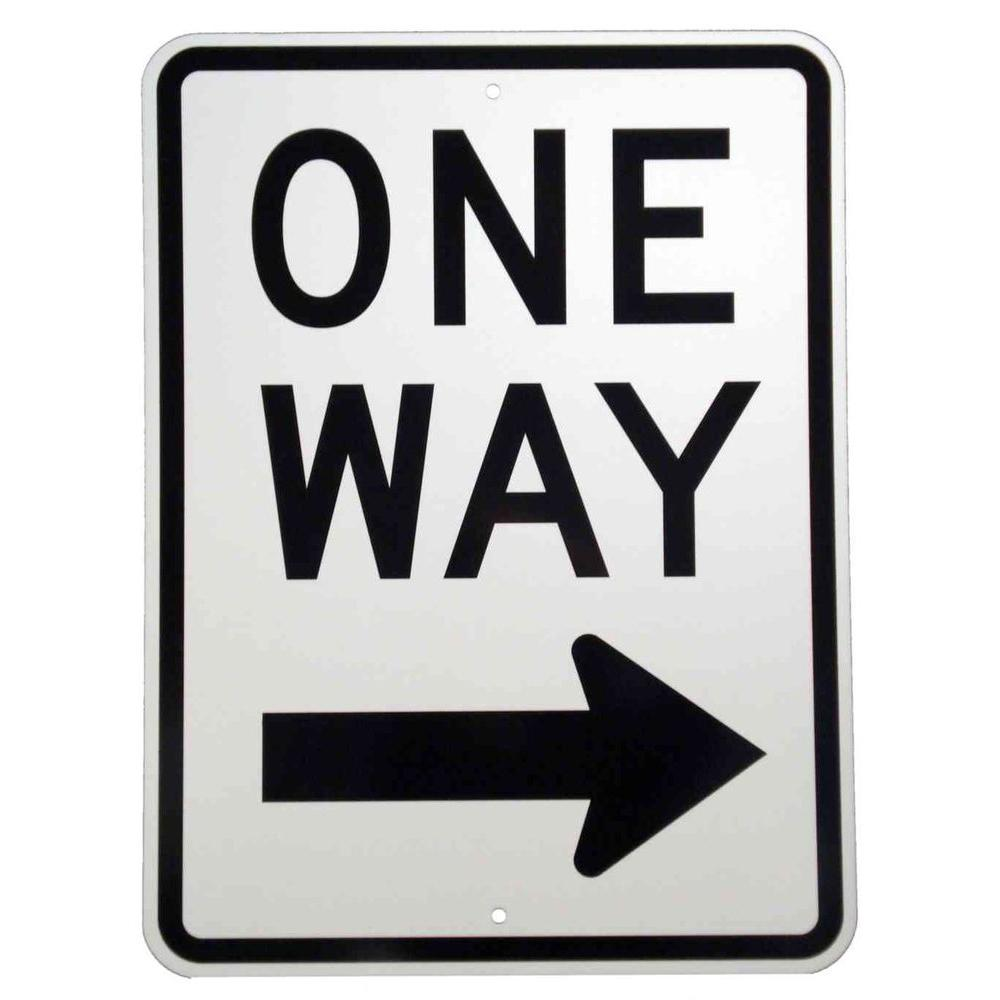 Brady 24 In X 18 In Aluminum One Way Sign 94197 The Home Depot