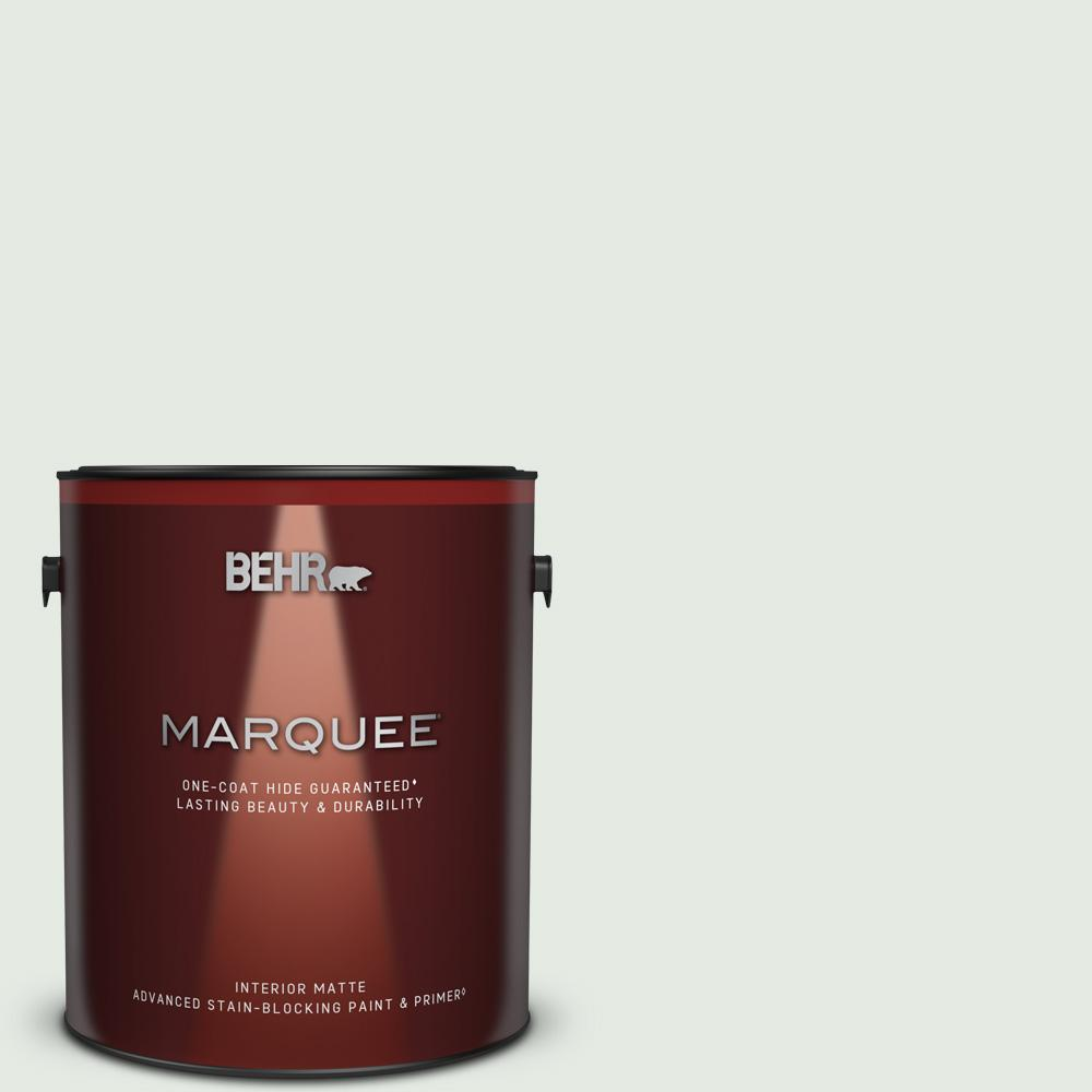 Behr Marquee 1 Gal Bl W07 Wind Chill Matte Interior Paint And Primer In One 145001 The Home Depot