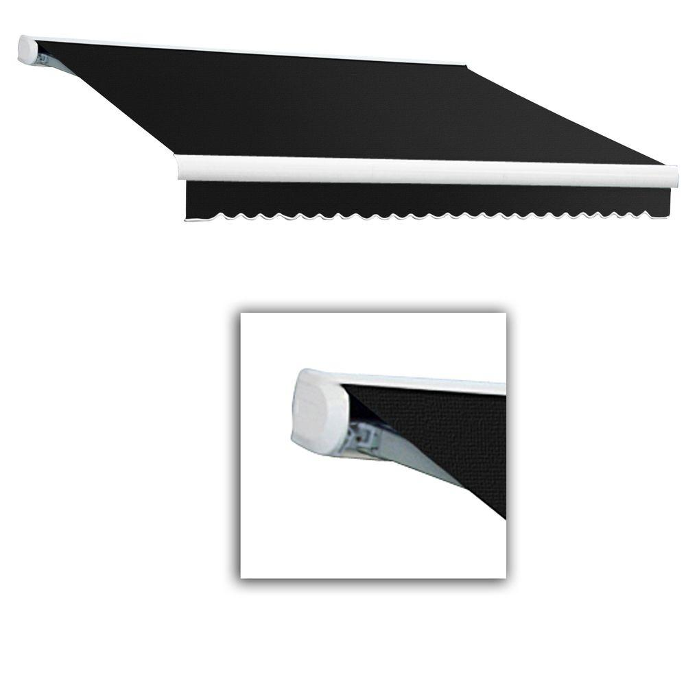 AWNTECH 8 ft. Key West Manual Retractable Awning (84 in. Projection) in Black
