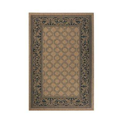 Entwined Cocoa/Black 9 ft. x 13 ft. Area Rug