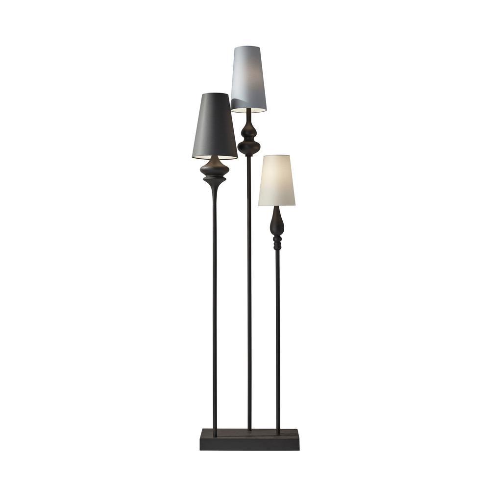 Jasmine 64 in. Antique Bronze Floor Lamp