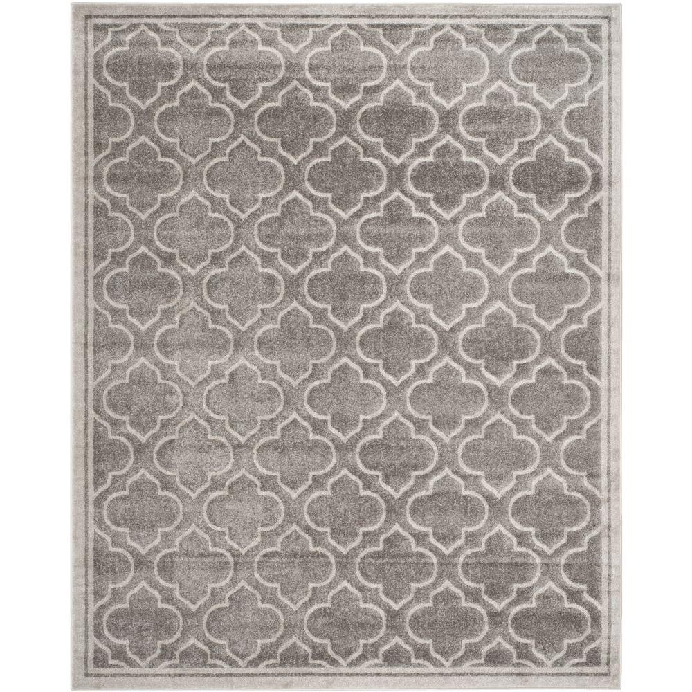 Safavieh Amherst Gray/Light Gray 11 ft. x 16 ft. Indoor/Outdoor ...