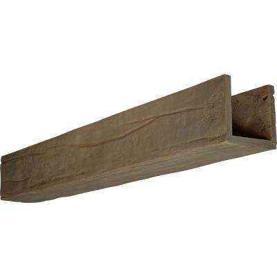 6 in. x 6 in. x 14 ft. 3-Sided (U-Beam) Riverwood Honey Dew Faux Wood Beam