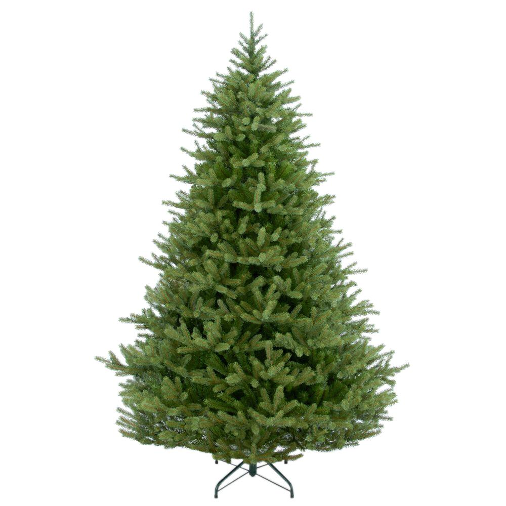 national tree company 7 12 ft feel real norway spruce hinged artificial - How Long Do Real Christmas Trees Last