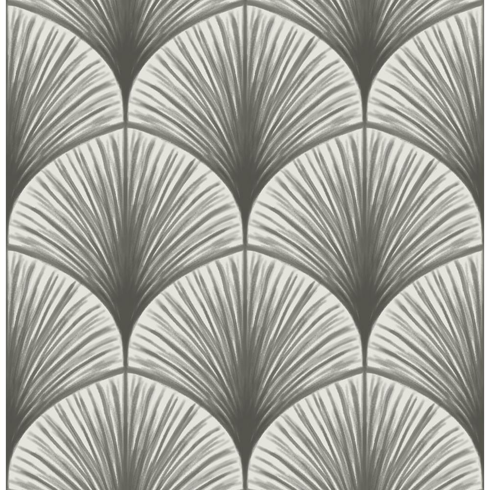 56.4 sq. ft. Dusk Grey Frond Wallpaper