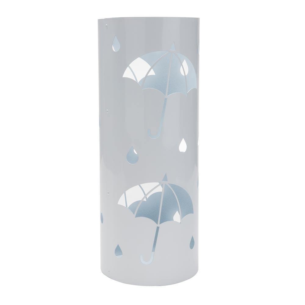 White Metal Umbrella Holder Stand