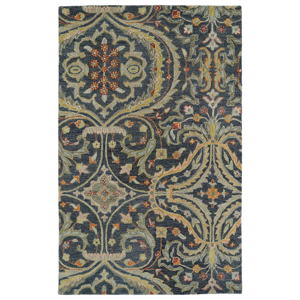 Kaleen Helena Turquoise Area Rug Reviews: Kaleen Helena Pewter 8 Ft. X 10 Ft. Area Rug-3206-73 810