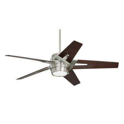 Luxe Eco 54 in. Brushed Steel Ceiling Fan