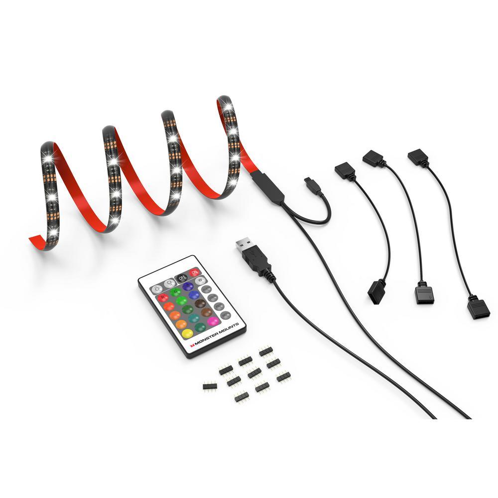 4-Strip Home Theater TV LED Backlight Kit