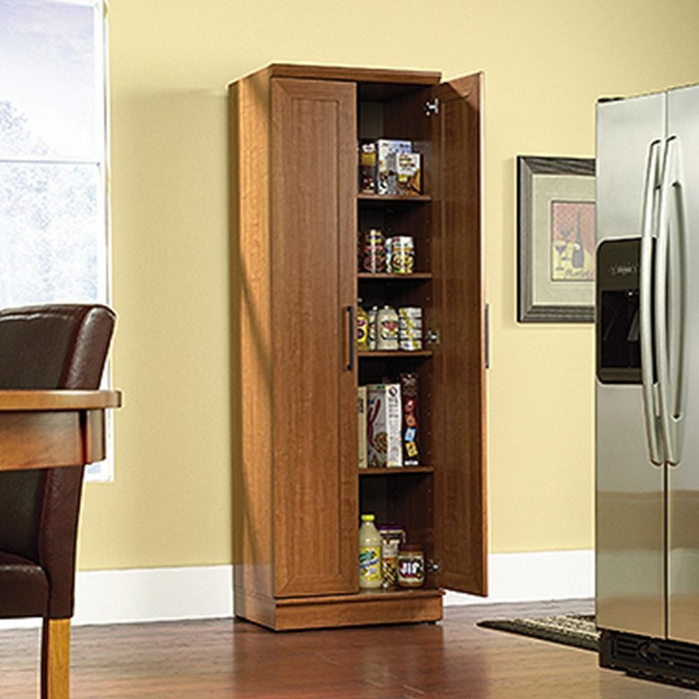 SAUDER Home Plus Sienna Oak Storage Cabinet-411963 - The Home Depot