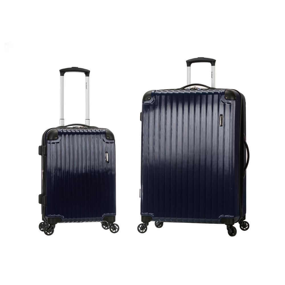 Rockland Expandable Santorini 2-Piece Hardside Spinner Luggage Set, Navy