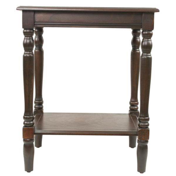 Decor Therapy Simplify Espresso End Table FR1569