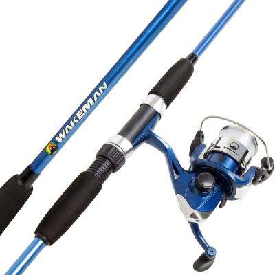 Swarm Series Spinning Rod and Reel Combo in Blue Metallic