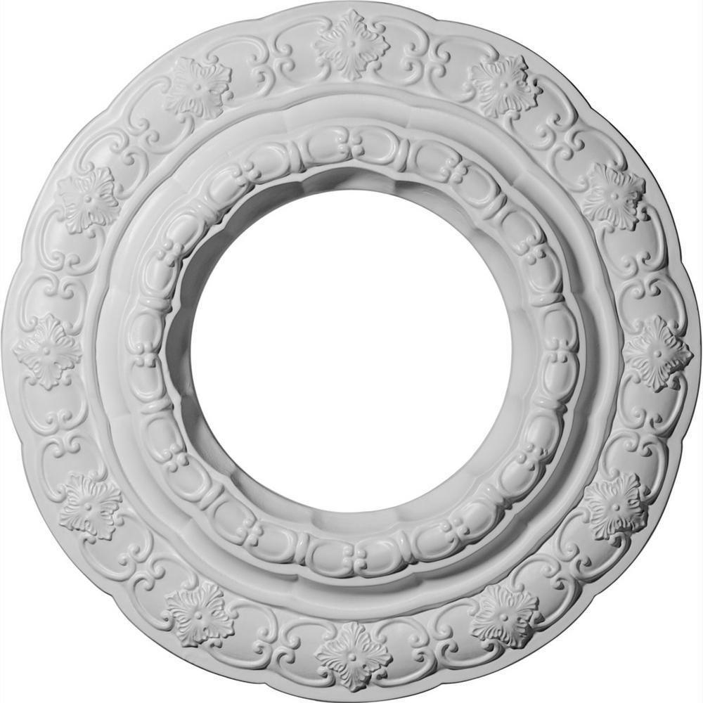15-3/8 in. OD x 7 in. ID x 1 in. P (Fits Canopies up to 7 in.) Lisbon Polyurethane Ceiling Medallion
