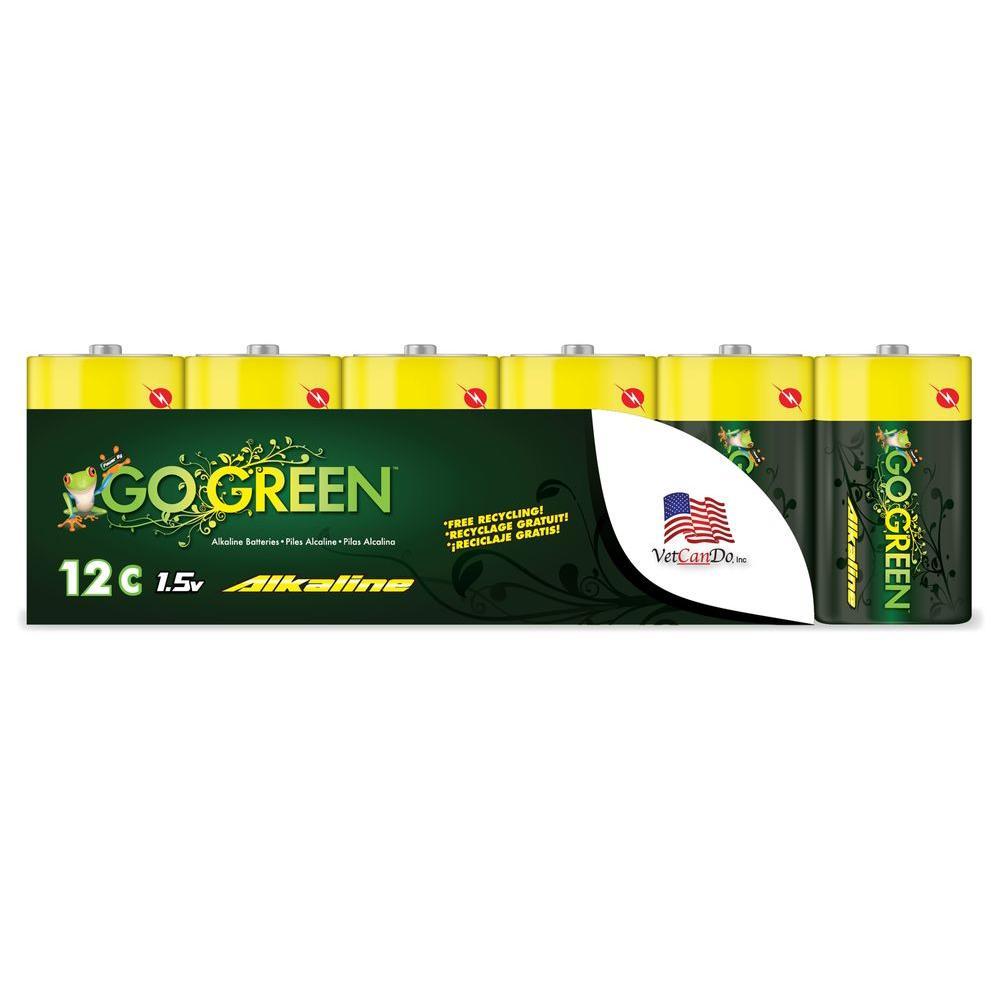 Go Green C Alkaline Battery (12 per Pack)