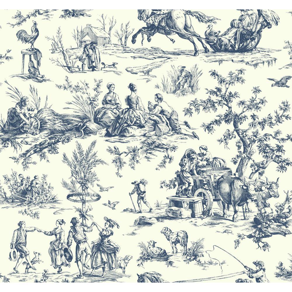 Ashford Toiles Seasons Toile Wallpaper
