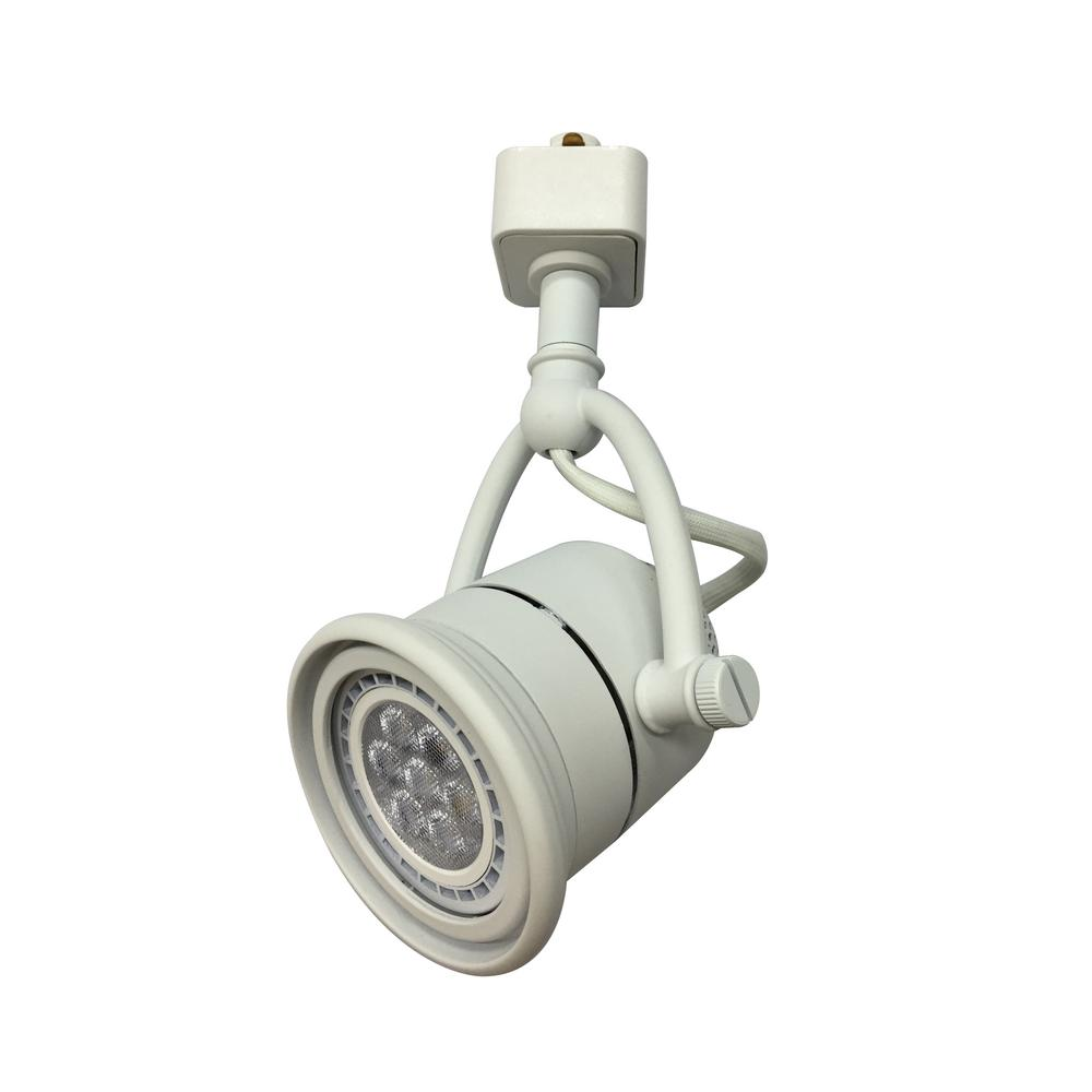 Led Track Light Head White: Hampton Bay 1-Light White LED Linear Track Lighting Retro