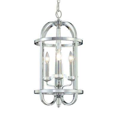 Senze Collection 3-Light Chrome Pendant