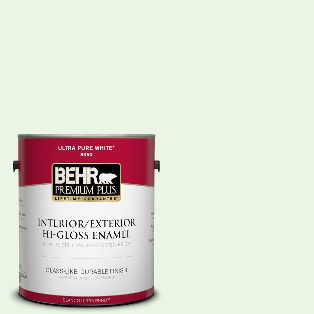 BEHR Premium Plus 1-gal. #430A-1 Mint Hint Hi-Gloss Enamel Interior/Exterior Paint