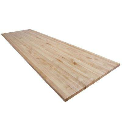 12 ft. L x 3 ft. D x 1.5 in. T Butcher Block Countertop in Finished Maple