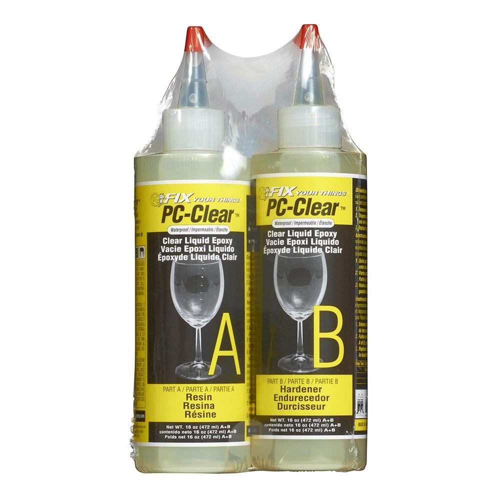 PC Products 16 oz. PC-Clear Liquid Epoxy-070161 - The Home Depot