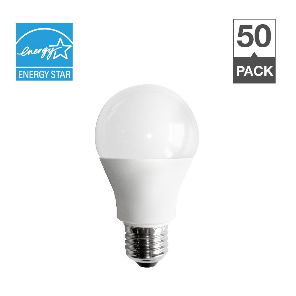 60W Equivalent Soft White 2700K A19 Energy Star 15,000-Hour LED Light Bulb (50-Pack)