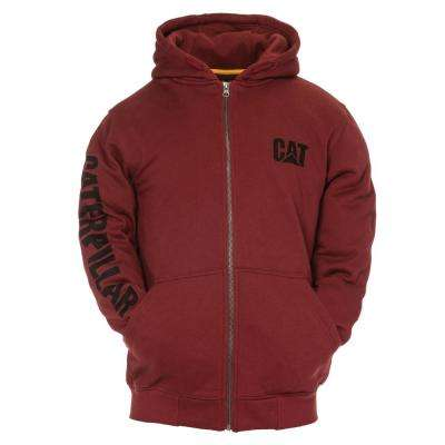 Trademark Banner Men's Large Brick Cotton/Polyester Full Zip Hooded Sweatshirt
