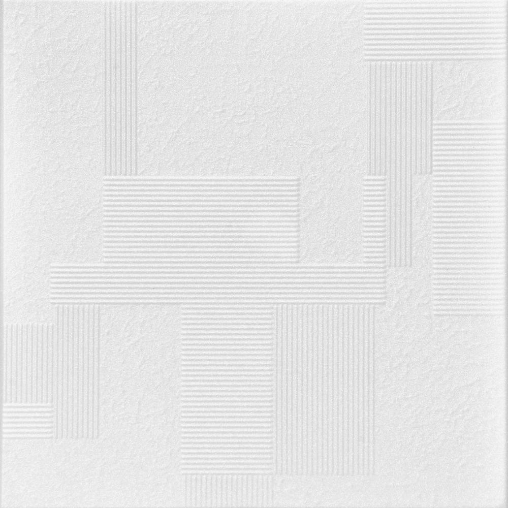 Vectors 1.6 ft. x 1.6 ft. Foam Glue-up Ceiling Tile in Plain White (21.6 sq. ft. / case)