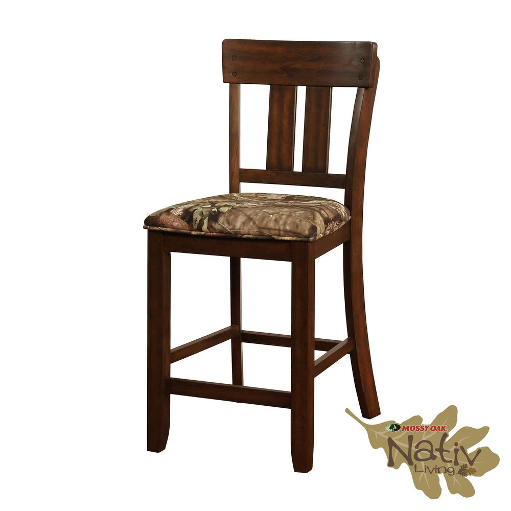 Linon Home Decor Melville Mossy 41 In Oak Counter Stool Thd01851